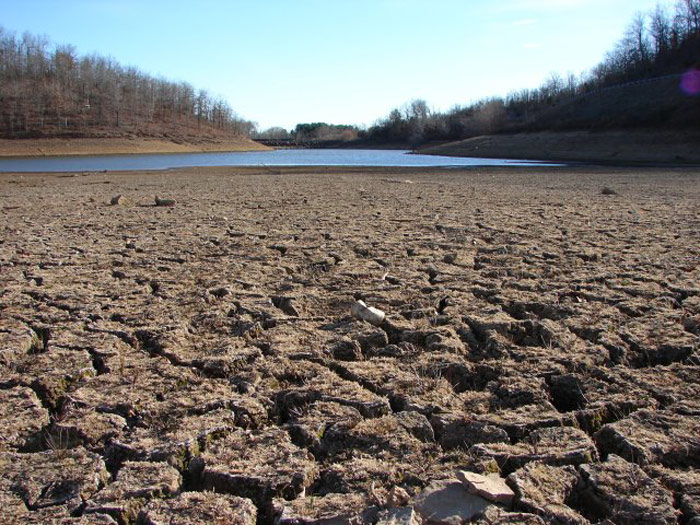California Drought Dry Riverbed